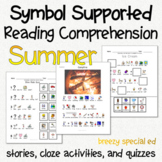 Summer - Symbol Supported Picture Reading Comprehension fo