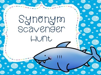 Summer Synonym Scavenger Hunt