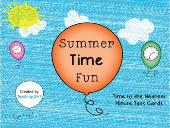 FREE Summer TIME Task Cards