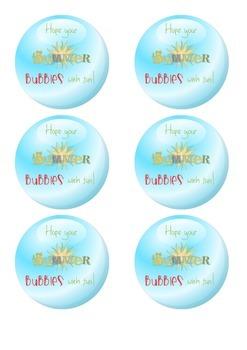 Summer Tags - End of school year printables - School - Bubble - Summer fun