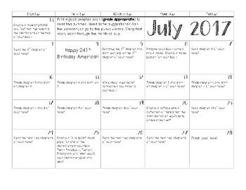 Summer Task Calendar