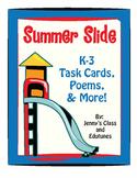 Summertime: Task Cards & Good-Bye Poems for Students Leaving Grades K-3