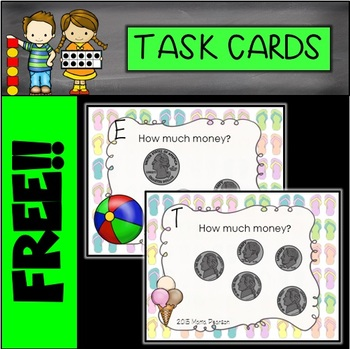 FREE Summer Money Task Cards
