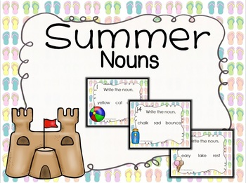 Summer Nouns Task Cards