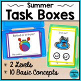 Summer Task Cards: Basic Concepts for Special Education and Autism