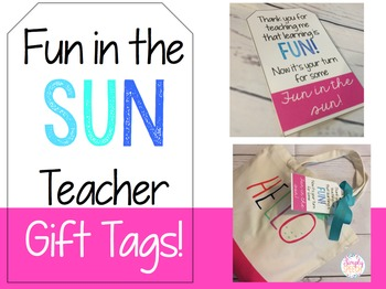 Summer Teacher Gift Tags