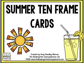 Summer Ten Frame Cards!
