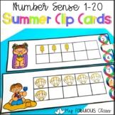 Summer Ten Frame Clip Cards 1-20