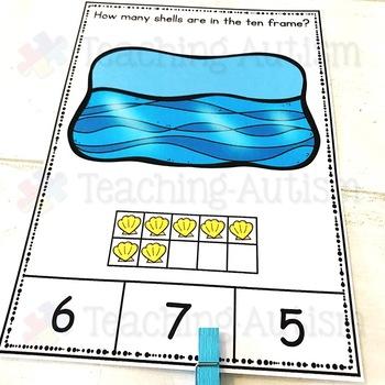 Summer Ten Frame Task Cards