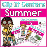 Summer Tens Frame Clip It Centers