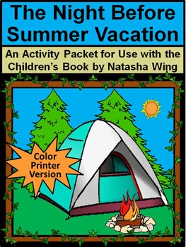 Summer Reading: The Night Before Summer Vacation Activity Packet