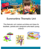 Summer Thematic Unit for Preschool and Kindergarten