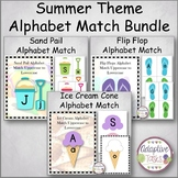 Summer Theme Alphabet Matching Tasks