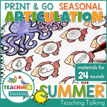 Summer Theme Articulation Print & Go
