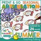 Summer Articulation Packet Print & Go