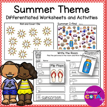 Summer Theme Bundle Differentiated