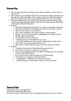 """Short Story """"All Summer in a Day"""": Metaphors, Inferences, Textual Evidence FREE"""