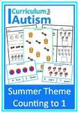 Summer Theme Count 1-10 Autism