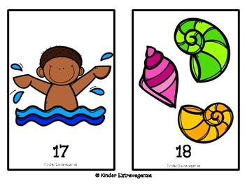 Summer Theme Counting Mats