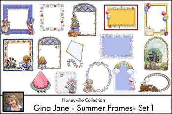 Summer Theme { Gina Jane Clip Art MEGA FREEBIE }