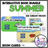 Summer Theme Interactive Books for Speech Therapy: Camping, Beach, Ice Cream