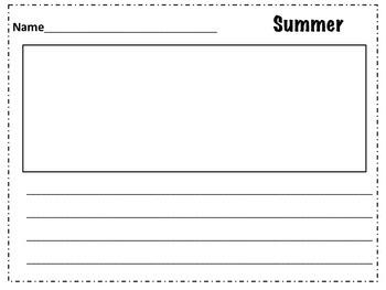 Summer Theme Literacy Center
