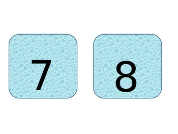Summer Theme Number Flash Cards!