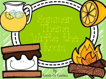 Summer Theme Write the Room