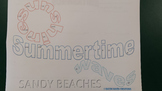Summer Theme multiply fractions color by answer activity
