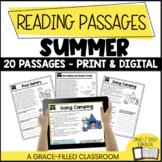 Fiction and Nonfiction Short Passages (Summer Themed)