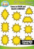 Summer 2D Icon Shapes Clipart {Zip-A-Dee-Doo-Dah Designs}