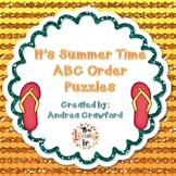 Summer Themed ABC Order Puzzles