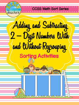 Summer Themed Addition and Subtraction Sort Bundle