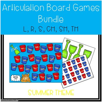 Summer-Themed Articulation Board Games BUNDLE