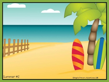 Summer Themed Barrier Game for Oral Communication