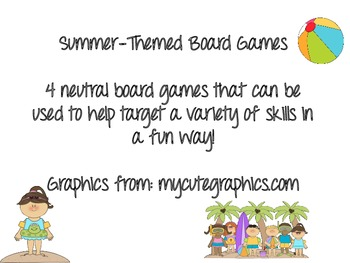 Summer Themed Board Games