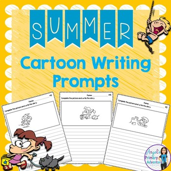 Summer Themed Cartoon Writing Prompts