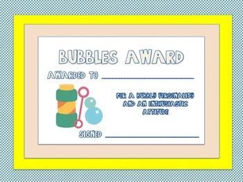 Summer Themed Classroom Awards