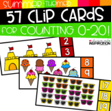 Summer-Themed Clip Cards for Counting 0-20