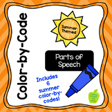 Summer-Themed Color-by-Code: Parts of Speech