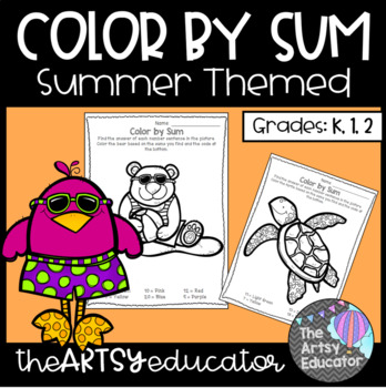 Summer Themed Color by Sum!