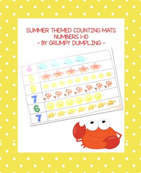 Summer Themed Counting Mats for Kindergarten {Numbers 1-10}
