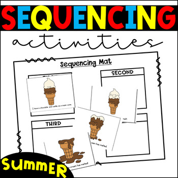 Sequencing Activities and Centers- Summer Story Sequencing