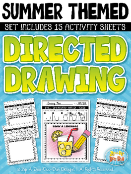 Summer Themed Directed Drawing Activity Pack — Includes 15