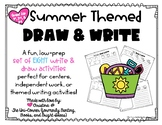 Summer Themed Draw and Write Directed Drawing