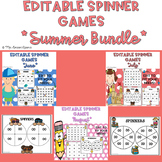 Summer Themed EDITABLE Spinner Games Bundle