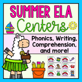 Summer Themed ELA Centers