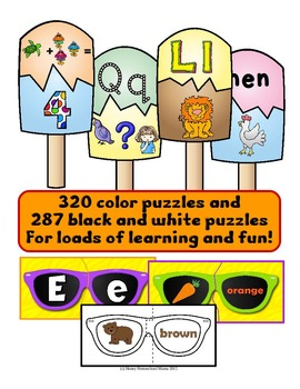 Summer Themed Early Learning Puzzle Bundle With 10 Sets of Puzzles