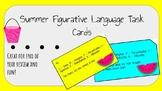 Summer Themed Figurative Language Task Cards - TEST PREP