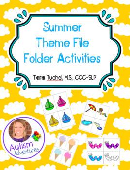 Summer Themed File Folder Activity
